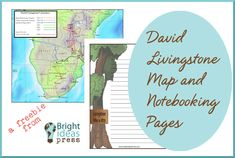 Free David Livingstone Notebooking Page and Map