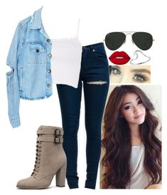"""""""Untitled #883"""" by missvalerieg ❤ liked on Polyvore featuring Topshop, GRETCHEN, Lime Crime and Ray-Ban"""