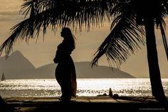 Ensaio de Gestante - Praia Vermelha, Rio de Janeiro - Silhoueta