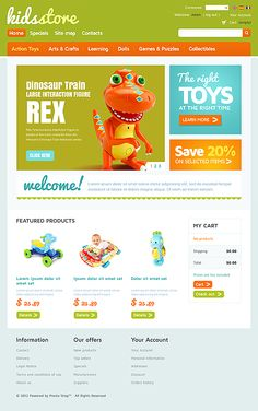 Kids Toys osCommerce Templates by Hermes