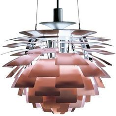 """PH Artichoke"" in copper by Poul Henningsen for Louis Poulsen"