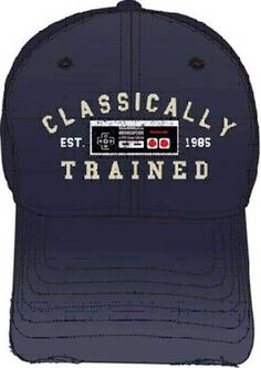 Nintendo Classically Trained Navy Blue Adjustable Adult Baseball Hat Cap