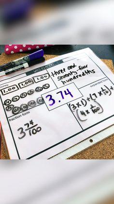 Teaching 5th Grade, Fourth Grade Math, Teaching Math, Teaching Ideas, Math Strategies, Math Resources, Math Activities, Teaching Numbers, Math Numbers
