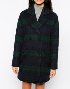 Plaid ASOS coat