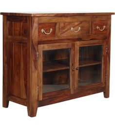 Credenza Teak Provinciale Legno massello di sheesham CS-182888 X 109 X 45 CM | Arts of India – Italy
