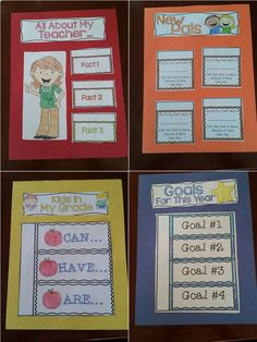 Flip book for back to school