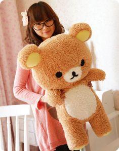 03 gift san x Rilakkuma ontspannen beer schattige 55cm zachte kussen pluche speelgoed pop in beschrijvingfuncties van het product:100% gloednieuw en hoge kwaliteit.materiaal: 100% hoge kwaliteit katoen van Gevulde& pluche dieren op AliExpress.com | Alibaba Groep