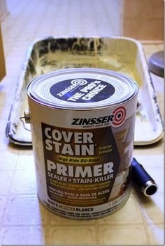 Zinsser Oil Based Primer to paint over ugly tile.