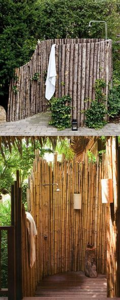 32 inspiring DIY outdoor showers: how to build enclosures with simple materials, best outdoor shower fixtures, creative designs and more! - apieceofrainbow.com
