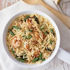 When Ryan Poli and his kitchen staff tried finishing orzo risotto-style (stirring the cooked orzo with stock until creamy) they got fantastic results ...