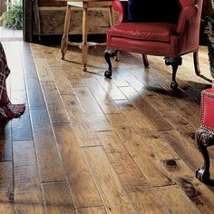 "5"" Engineered Hickory Hardwood Flooring in Flintlock - look for wood look tile floors in this color"