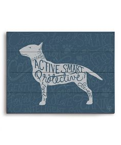Love this Bull Terrier Typography Wall Art on #zulily! #zulilyfinds