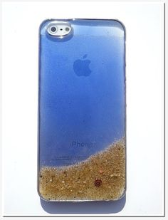 iPhone 5 case Resin with Real Sand shell  Miss by Annysworkshop, $18.00