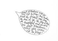 dear prudence. via http://lisacongdon.com/blog/category/365-days-of-hand-lettering/
