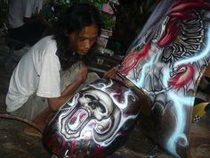 Vespa lavoro latta Airbrush bro Rizal Stuts