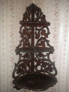 Antique Vintage Natural Wicker Rattan Victorian Corner
