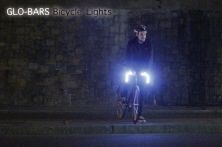 Glo-Bars are LED lights embedded into handlebars for a Tron-like effect.