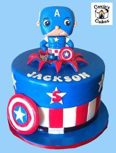Captain America chibi style cake