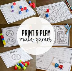 Math Games for the Whole Year! - Thank God It's First Grade!