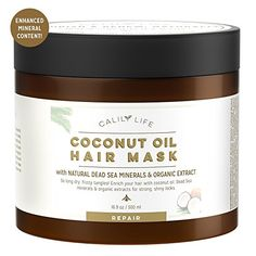 Calily Life Organic Coconut Oil Hair Mask with Natural Dead Sea Minerals, 17 Oz. – Repairs Damaged Hair, Hydrates, Shines, Moisturizes & Softens - Increases Natural & Healthy Hair Growth [ENHANCED] #beauty #affiliate #haircare #hairmask #deadsea #repair #treatment