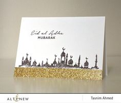 Eid al Adha Stamp Set - Altenew - 1 Diy Eid Cards, Eid Greeting Cards, Ramadan Cards, Ramadan Greetings, Handmade Cards, Gift Cards, Images Eid Mubarak, Eid Mubarak Card, Hajj Mubarak