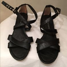 Franco Sarto strappy sandals 8.5M Worn once. Practically new Franco Sarto Shoes Sandals