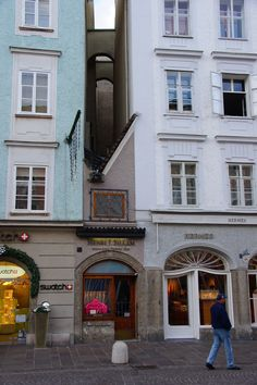 Smallest house in the city of Salzburg , Austria