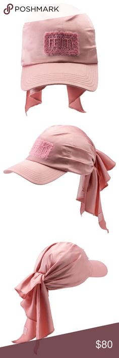 🐆Puma Fenty bandana Cap Never worn but received it from online store with a little defected dirt inside as shown on the last picture. Original price 100$ Tag was cut off but kept everything in original packaging. With receipt Puma Accessories Hats