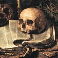 wtf renaissance — Frida liked leaving her own secrets in bookstore... Danse Macabre, Vanitas Paintings, Art Paintings, Memento Mori Art, Vanitas Vanitatum, A Silent Voice, Skull And Bones, Skull Art, Art And Architecture