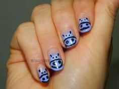 Hippo nail art tri polish tuesday primark p.s. lilac