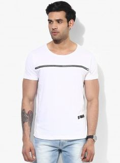 Extra Longline Tee by Tiktauli De. Corps. With Metal horizontal zip,Multi layered back and scoop hem