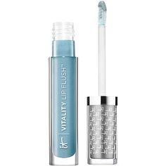 It Cosmetics News Anchor Blue Vitality Lip Flush Butter Gloss - put over lipstick for whiter teeth!