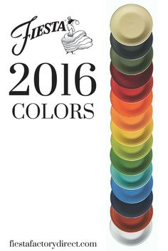 Fiesta Dinnerware color spectrum for 2016 - featuring new color Claret. Learn more on the blog, http://www.alwaysfestive.com.