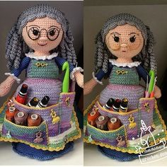 Knitting can be intimidating if you've never done it before, but there are so many simple patterns o Crochet Dolls Free Patterns, Crochet Doll Pattern, Doll Patterns, Crochet Home, Crochet Crafts, Knit Crochet, Knitting Videos, Loom Knitting, Crochet Organizer