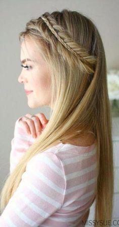Classy gerade Frisur Themen für stilvolle Mädchen de cheveux courts à la mode - - High Bun Hairstyles, Prom Hairstyles For Long Hair, Best Wedding Hairstyles, Girl Hairstyles, Fashion Hairstyles, Brown Hairs, Missy Sue Hair, Straight Wedding Hair, Simple Elegant Hairstyles
