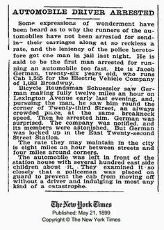 Primera multa por exceso de velocidad
