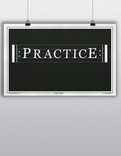 """Practice. Repeat. The two most important things for a musician to do. Add this poster to any office, band hall, or practice room for a gentle reminder. The poster measures 11""""x17"""" and is professionall"""