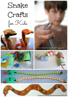 Snake Crafts and art projects for Kids to make and do!