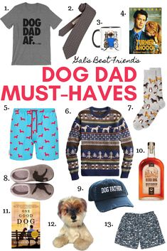 dog dad must-haves. Mean Girls Christmas, Christmas Gifts For Friends, Christmas Dog, Turner And Hooch, Dog Dad Gifts, Dog Jacket, Personalized Books, Girl And Dog, Fun To Be One