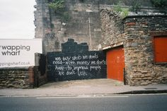 A good quote can be very powerful. And who doesn't love a good bit of consumerism bashing? From Bristol, UK.
