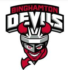 Binghamton Devils Reveal New Logo Design Ice Hockey Teams, Sports Teams, Sports Logos, American Hockey League, American Logo, New Jersey Devils, Logo Design, York, Rice Packaging