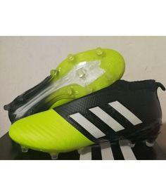 Adidas ACE 17 PureControl FG TIL FAST UNDERLAG GRESSsvart Gul Hvit Fotballsko