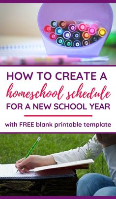 Looking for a homeschool planner that works for your family? Our weekly homeschool schedule template Tot School, New School Year, Schedule Printable, Schedule Templates, Printable Planner, Free Printable, Printables, Homeschool Curriculum, Homeschooling