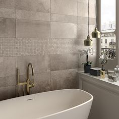 Distributor of Italian and Spanish Tiles Italian. Ensuite Bathrooms, Bathroom Spa, Bathroom Layout, Bathroom Interior, My Ideal Home, Bathtub Shower, Wall And Floor Tiles, Home Living, Living Room