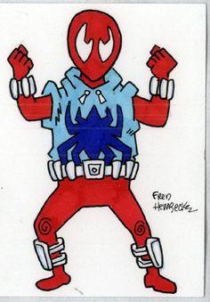 Fred-Hembeck-Color-Sketch-Card-Scarlet-Spider-Marvel-1-1