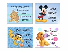 Disney Lunch Box Notes for kids. I'm printing and using these to count down to our Spring Break Disney World vacation!