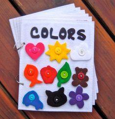 Vilt kleure boek