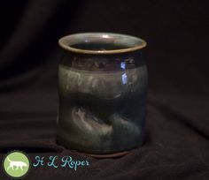 Green Wheel Thrown Vase Army Veteran by TazChessieArtwork on Etsy
