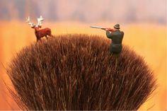 Shaving brush deer hunting