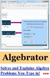 Algebrator – Plug in an equation it will tell you how to figure out the answer » The Homestead Survival